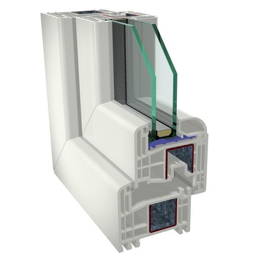Műanyag ablak – GEALAN S8000 metszet