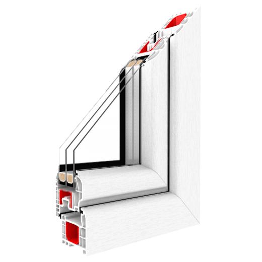 Műanyag ablak - IGLO 5 metszet