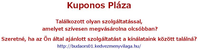 Kuponos Pláza