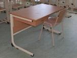 LC form tanári  asztal,- fiókkal