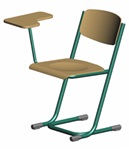 Tyúklábas IS típusú tanulói szék - írólappal